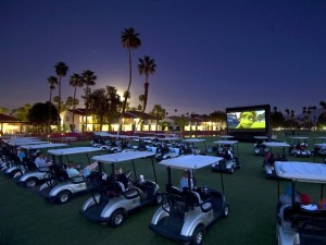 Drive-In Movies Go Golf Cart