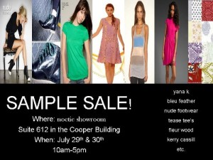 Noetic Sample Sale