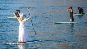Dozens of Witches Just Paddled Magical Morro Bay