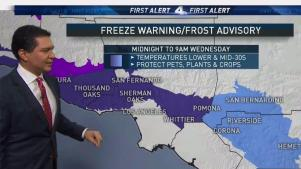 <p>It is the coldest weather of the season so far, with new freeze warnings in effect. Anthony Yanez has your First Alert Forecast on Tuesday, Feb. 20, 2018.</p>