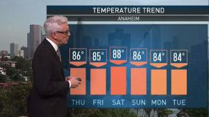<p>Skies in most areas will be partly cloudy as a stable weather pattern sets in this weekend. Fritz Coleman has your First Alert Forecast on July 21, 2017.</p>