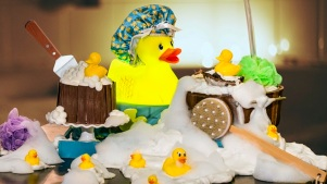 Rubber Ducky Cake: Barton G. New