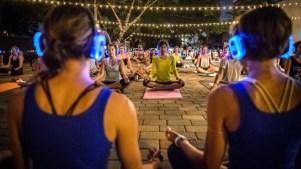 Silent DJ Yoga at The Garland