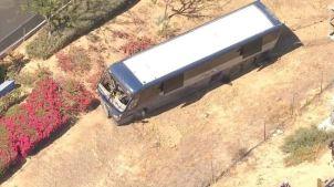 Bus Crashes Near San Bernardino