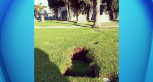 Rainfall Causes Over a Dozen Graves to Sink Into Ground