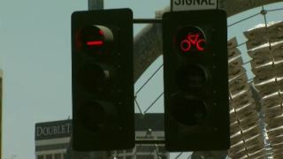 Bike Traffic Lights Installed in Downtown Los Angeles