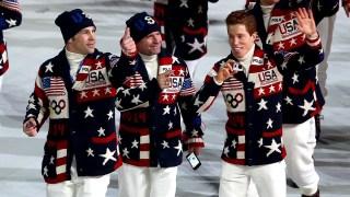 Team USA at the Sochi Olympics Opening Ceremony