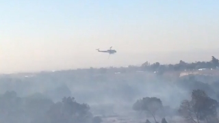 Homes Evacuated as Crews Battle Wind-Driven Brush Fire in Riverside