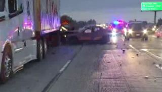 Driver Killed in Three-Vehicle Crash With Big Rig on 605 Freeway