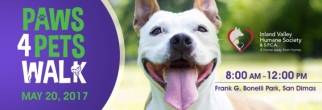 Join Inland Valley Humane Society & S.P.C.A.'s Paws 4 Pets Walk