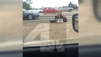 Cell Phone Video Shows CHP Officer Hitting Woman