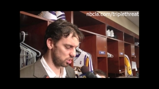 Lakers' Concussed Pau Gasol Describes Concussion