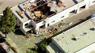 Building Collapses after Explosion in Sylmar