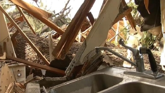 High Winds Damage Dozens of Homes
