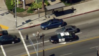 Female Driver Leads Authorities on Pursuit