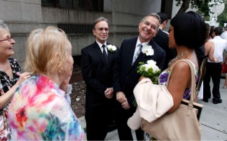 Gay Couples Wed on Historic Day