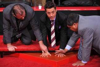 Robert Downey, Jr. Puts His Prints on Grauman's
