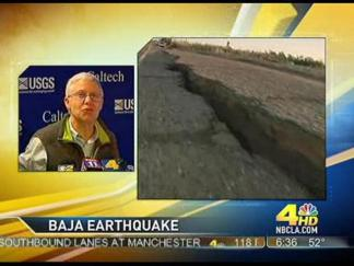 Aftershock Interrupts News Conference About Aftershocks