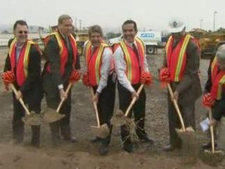 Officials Break Ground (RAW)