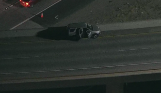 Man Jumps Off Freeway Overpass Following Pursuit in Corona