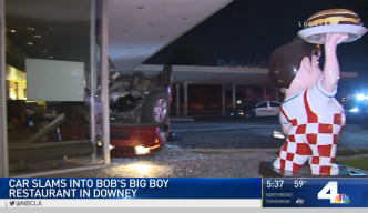 Accused DUI Driver Crashes Into Bob's Big Boy