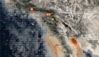 Map: See the Smoke Forecast for Wildfires in California