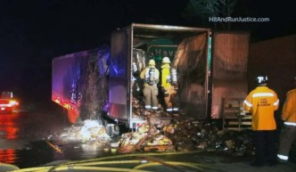 Trailer With 15,000 Pounds of Apple Pies Burns on Freeway