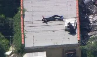 Search Leads to Rooftop After Pursuit Crash