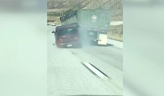 Insane Video Shows Car Dragged by Truck