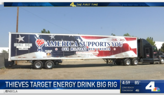 Big Rig With $42K Worth of Energy Drinks Stolen