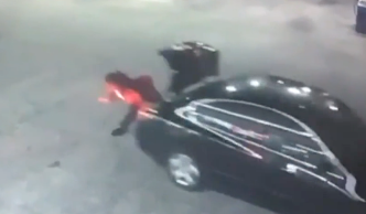 Gas Station Surveillance Shows Woman Break Free From Trunk