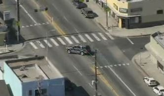 SUV Driver Arrested After a Chase on South LA Streets