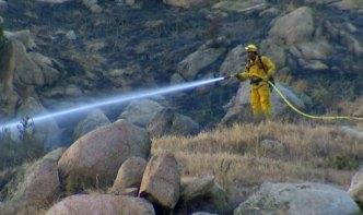 Firefighters Hurt Battling Brush Fire in Moreno Valley
