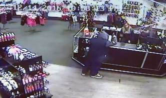 Watch: Store Employees Throw Sex Toys at Armed Robber