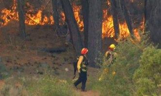 Two Wildfires Burn in San Bernardino County