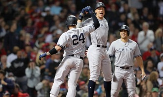 Sanchez, Judge Power Yankees Past Red Sox 6-2 to Even ALDS