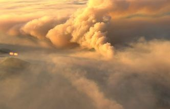 Thick Smoke Billows From 13,000-Acre Fire