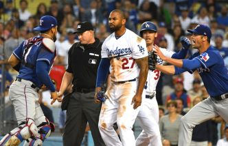 VIDEO: Benches Clear Between Dodgers and Rangers