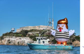 'Trump Chicken' Spotted Cruising Near Alcatraz, Pier 39 in San Francisco