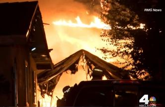 Firefighters Battle Brush Fire in Palmdale