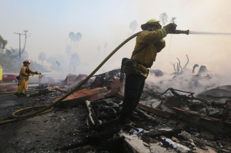 'We're Not Out of the Woods Yet': CA Fire Chief
