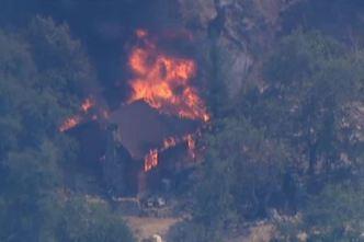 Brush Fire Burns Near Glendora