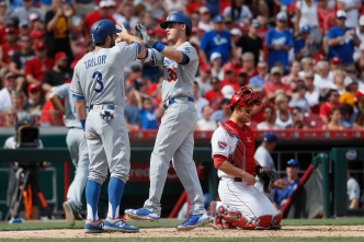Dodgers Hit 4 Homers in Rout of Reds