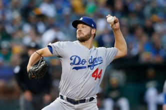 Rich Hill Defeats Former Team as Dodgers Hold on to Beat A's, 4-2