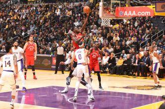 Shorthanded Raptors End Lakers' 7-game Winning Streak