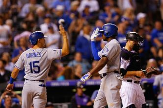 Dodgers Survive Slugfest With Rockies