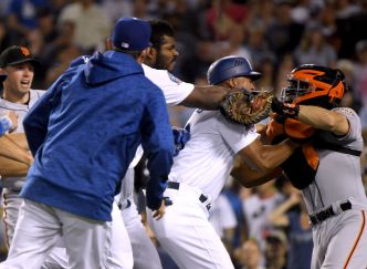 Benches Clear Between Rivals Dodgers and Giants