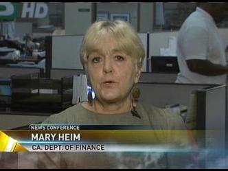 NewsConference:  Mary Heim, Ca. Dept. of Finance, Demographics Research Unit Dir.