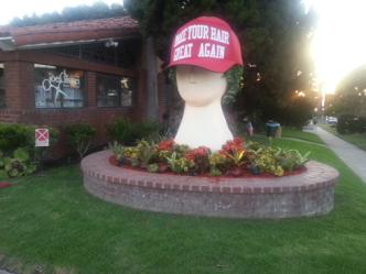 Huge Trump-Like Hat Stolen Off Redondo Beach Head Sculpture