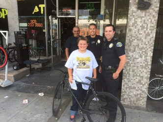 Pomona Police Officers Replace Boy's Stolen Bike